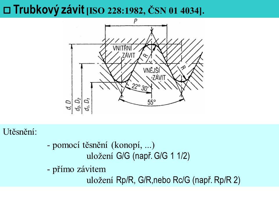  Trubkový závit [ISO 228:1982, ČSN 01 4034].